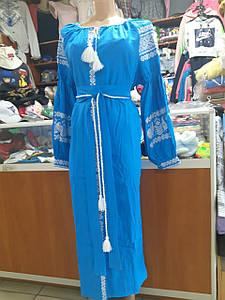 Жіноче лляне плаття Вишиванка р. 42-60