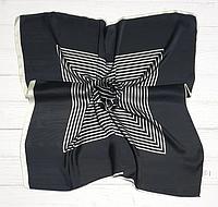 Шейный шелковый платок Fashion Жаклин 70*70 см черный
