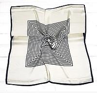Шейный шелковый платок Fashion Жаклин 70*70 см молочный