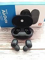 Беспроводные Bluetooth наушники Xiaomi Redmi Airdots черные (Наушники сяоми редми аирдотс черные) оригинал