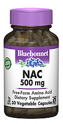 NAC (N-Ацетил-L-Цистеин) 500мг, Bluebonnet Nutrition, 30 гелевых капсул