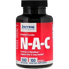 NAC (N-Ацетил-L-Цистеин), 500 мг, Jarrow Formulas, 100 вегетарианских капсул