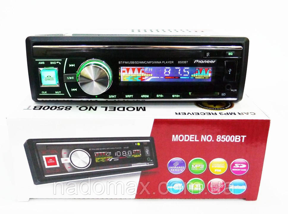 Автомагнитола 1DIN MP3-8500BT RGB