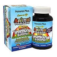 Комплекс для Поддержки и Защиты Иммунной Системы для Детей, Вкус Тропических Ягод, Animal Parade, Natures Plus, 90 жевательных таблеток