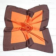 Шийний шовковий хустку Fashion Евелін 70*70 см шафран