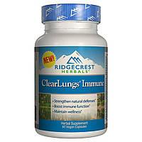 Иммуностимулирующий Комплекс для Поддержки Легких, Clear Lungs, RidgeCrest Herbals, 60 гелевых капсул