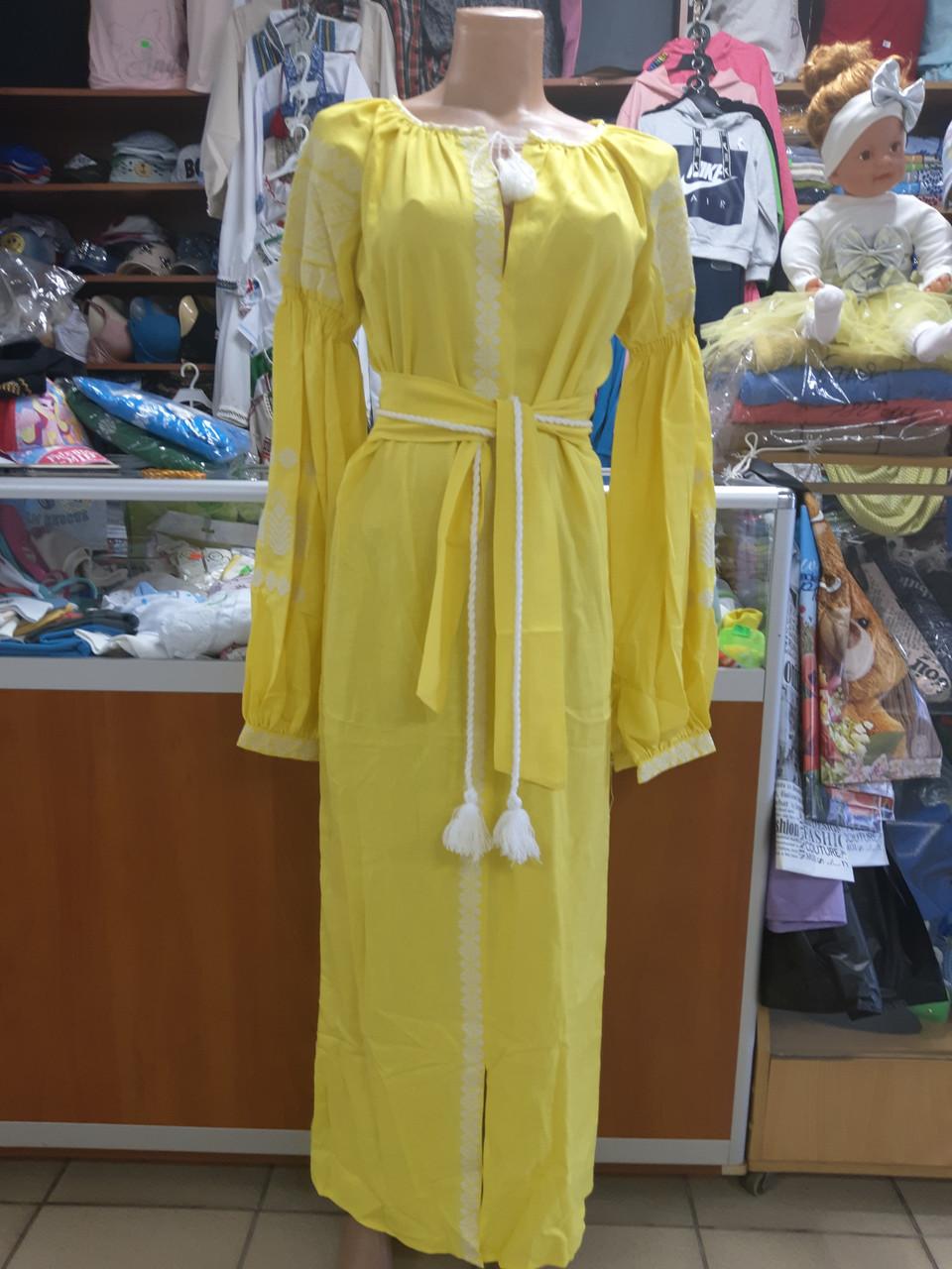 Жіноче плаття Вишиванка в підлогу р. 42-60
