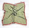 Шелковый платок Fashion Полет 70*70 см оливковый