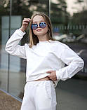 Спортивный костюм подросток батник и кюлоты трикотаж пинье размер:134-140,140-146,146-152,152-158, фото 5
