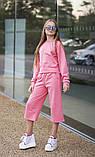 Спортивный костюм подросток батник и кюлоты трикотаж пинье размер:134-140,140-146,146-152,152-158, фото 3