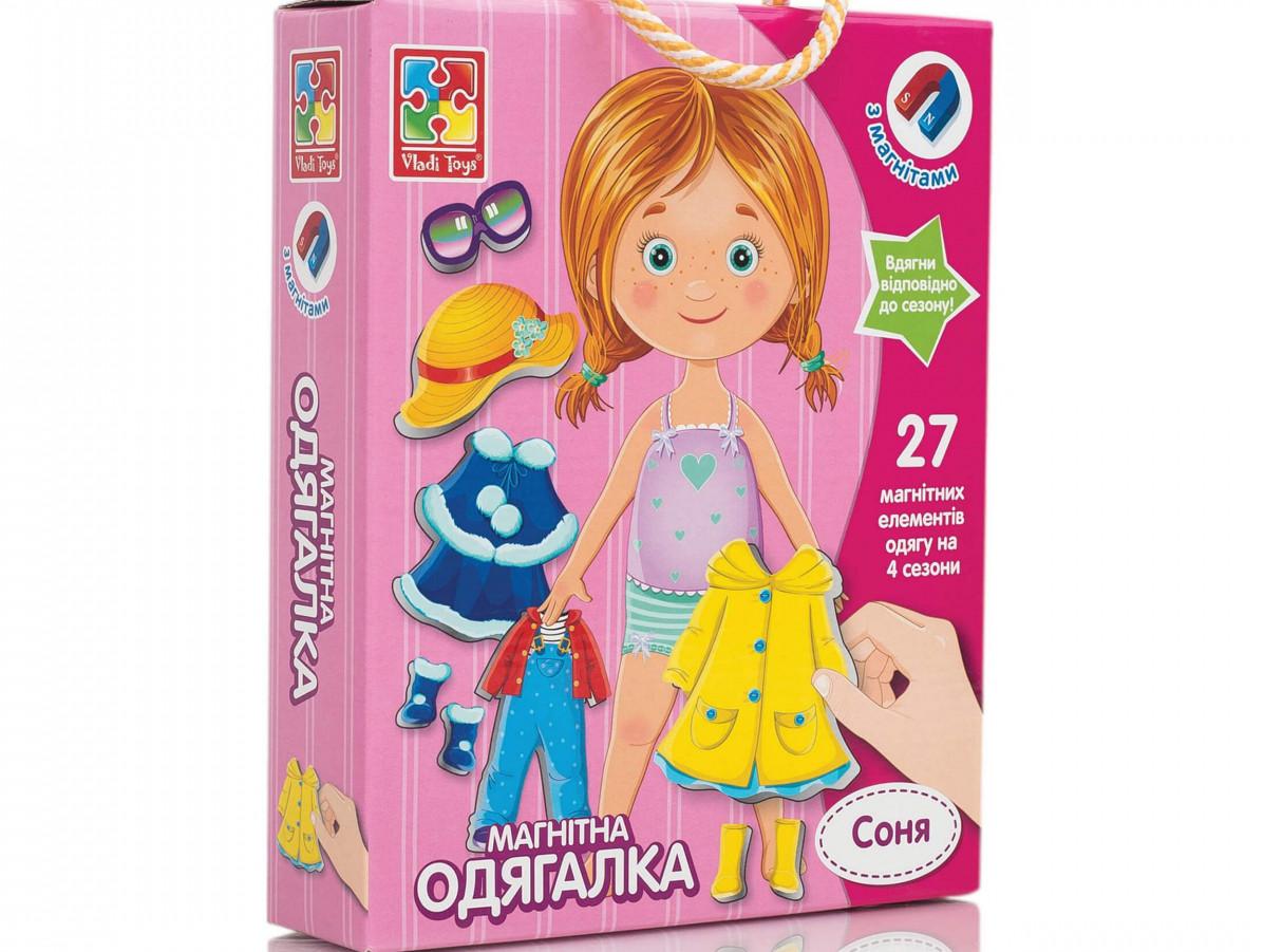 Магнитная игра-одевалка Соня (укр), Vladi Toys (VT3702-07)