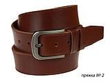 Ремень кожаный джинсовый одна строчка SULLIVAN RMK-101(8.5) 115-150 см светло-коричневый, фото 6