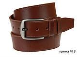 Ремень кожаный джинсовый одна строчка SULLIVAN RMK-101(8.5) 115-150 см светло-коричневый, фото 3