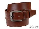 Ремень кожаный джинсовый одна строчка SULLIVAN RMK-101(8.5) 115-150 см светло-коричневый, фото 7