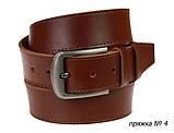 Ремень кожаный джинсовый одна строчка SULLIVAN RMK-101(8.5) 115-150 см светло-коричневый, фото 5