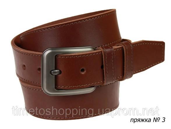 Ремень кожаный джинсовый одна строчка SULLIVAN RMK-101(8.5) 115-150 см светло-коричневый