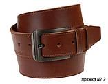 Ремень кожаный джинсовый одна строчка SULLIVAN RMK-101(8.5) 115-150 см светло-коричневый, фото 4