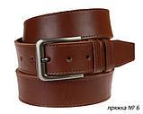 Ремень кожаный джинсовый одна строчка SULLIVAN RMK-101(8.5) 115-150 см светло-коричневый, фото 2
