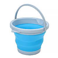 Силиконовое складное ведро  Collapsible Bucket на 10 литров, фото 1