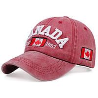 Кепка бейсболка CANADA 2 Красная, 2 Унисекс, фото 1