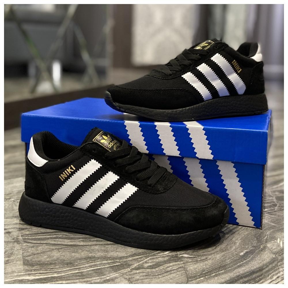 Женские кроссовки Adidas Iniki Black White, женские кроссовки адидас иники, жіночі кросівки адідас інікі