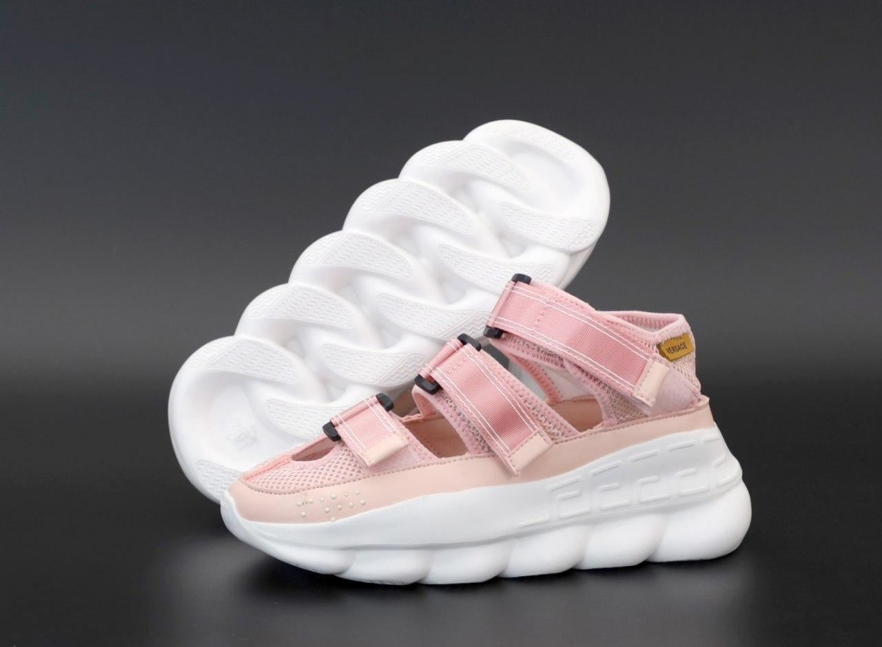 Жіночі сандалі Versace Chain Reaction 31701 рожеві