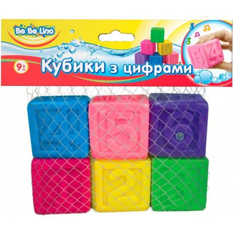 "Брызгалки для ванной ""Кубики с цифрами"", Bebelino"