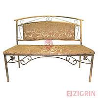 Кованый диванчик в прихожую ПРЕСТИЖ 128 см   Скамейка мягкая