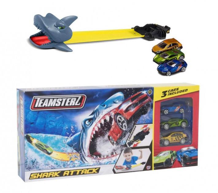 "Автотрек ""Атака акулы"" с 3 машинками, Teamsterz"