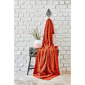 Плед вязанный Karaca Home - Sofa bordo бородовый 130*170
