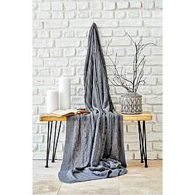 Плед вязанный Karaca Home - Sofa gri серый 130*170