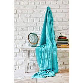 Плед вязанный Karaca Home - Sofa mavi синий 130*170