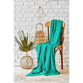 Плед вязанный Karaca Home - Sofa yesil зелёный 130*170