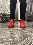 Мужские кроссовки Nike Air Force 1 Low Red Black Stars, мужские кроссовки найк аир форс 1 лов, фото 8