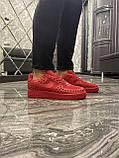 Мужские кроссовки Nike Air Force 1 Low Red Black Stars, мужские кроссовки найк аир форс 1 лов, фото 5