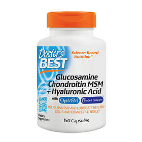Комплекс для суставов и связок Doctor's BEST Glucosamine Chondroitin MSM + Hyaluronic Acid (150 caps)