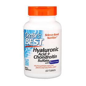 Комплекс для суставов и связок Doctor's BEST Hyaluronic Acid + Chondroitin Sulfate with Collagen 60 tab