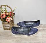 Туфли женские синие из натуральной кожи 36-40 р Gerda арт 455, фото 3
