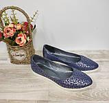 Туфли женские синие из натуральной кожи 36-40 р Gerda арт 455, фото 2