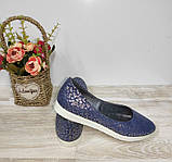 Туфли женские синие из натуральной кожи 36-40 р Gerda арт 455, фото 4