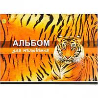 Альбом для рисования А4 60 листов 120 (100) г/м², скоба ТИГР / альбом для малювання 60 аркушів
