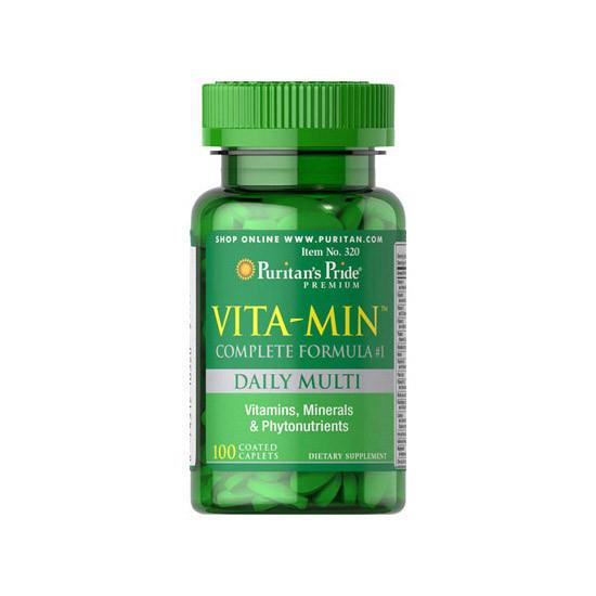 Витамины и минералы комплекс Puritan's Pride Vita-Min (100 caplets)