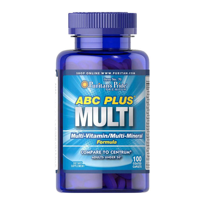 Комплекс вітамінів і мінералів Puritan's Pride ABC Plus Multi 100 caplets