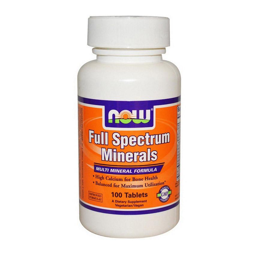 Комплекс мінералів NOW Full Spectrum Minerals 100 tabs