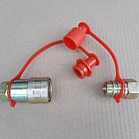 Муфта разрывная евро клапан двухсторонняя  M22X1,5 (красн.) Євро клапан PL-149