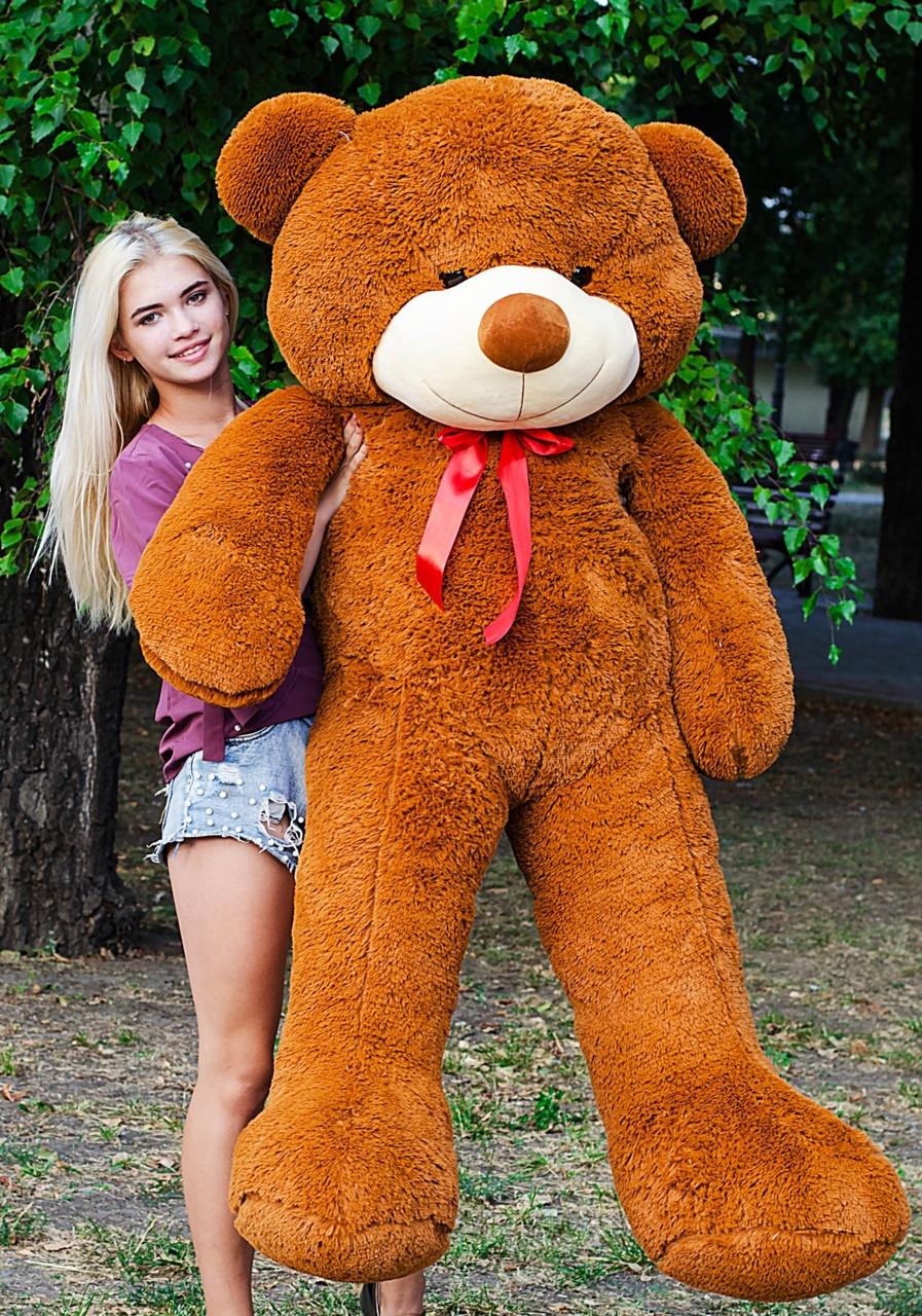 🌟🌟🌟🌟🌟❤️ Плюшевый Мишка 2 метра в Подарок. Большой Плюшевый Медведь 200 см коричневый. Мягкая игрушка.