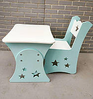 Стол и стул в детскую, дитячий стіл і стільчик столик звёзды