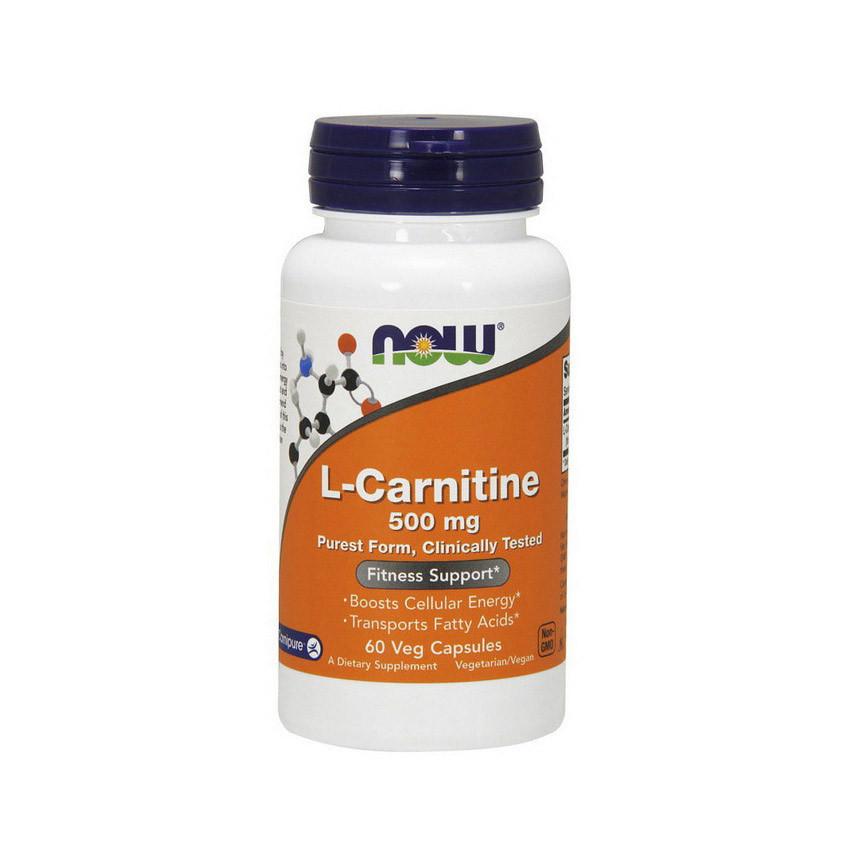 Л-Карнітин NOW L-Carnitine 500 mg 60 veg caps