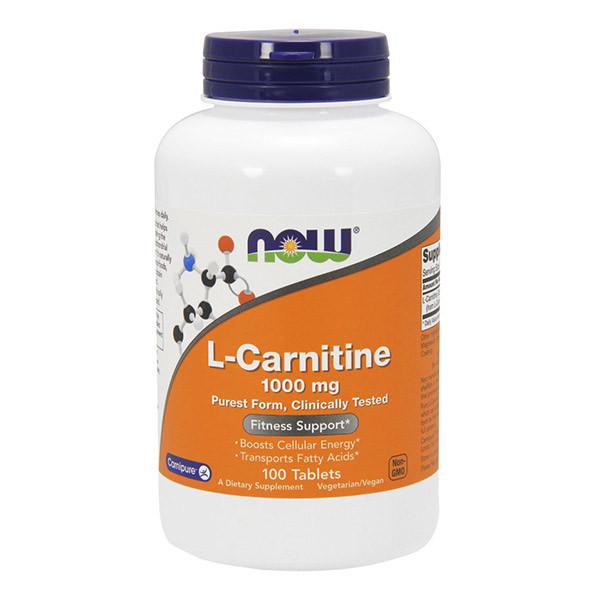 Л-Карнітин тартрат NOW L-Carnitine Tartrate 1000 100 tab
