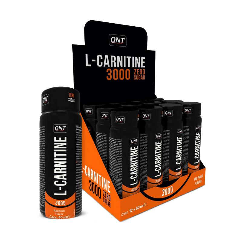 Л-Карнитин жидкий в ампулах QNT L-Carnitine 3000 12x80 ml